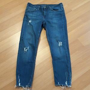 Zara skinny ankle-length jeans